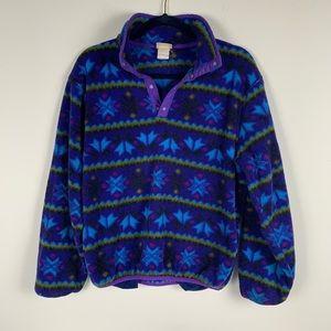 L.L.Bean kids half snap pullover fleece jacket
